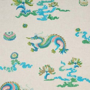 78110 HANLUN DRAGON EMBROIDERY Natural Schumacher Fabric