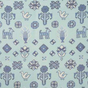 78141 CHUSKA WARP PRINT Blue Schumacher Fabric