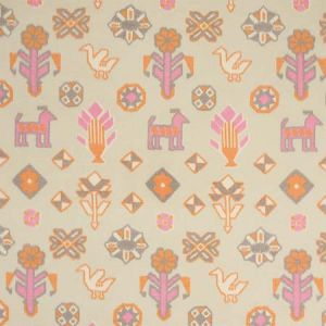 78142 CHUSKA WARP PRINT Pink Orange Schumacher Fabric