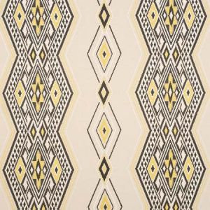78152 BAYETA EMBROIDERY Yellow Neutral Schumacher Fabric