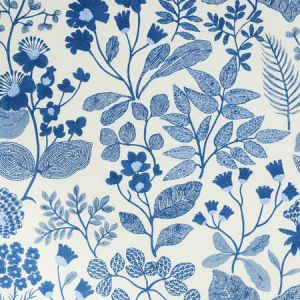 78311 EMALINE EMBROIDERY Blue Schumacher Fabric