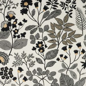 78312 EMALINE EMBROIDERY Black Schumacher Fabric