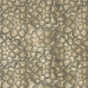 78340 LOTUS EMBROIDERY Gold Schumacher Fabric