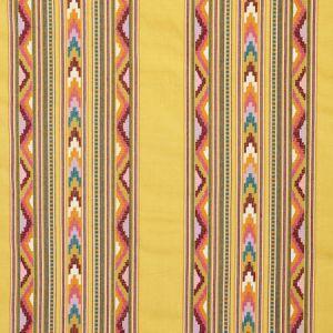 78391 ZARZUELA STRIPE EMBROIDERY Saffron Schumacher Fabric