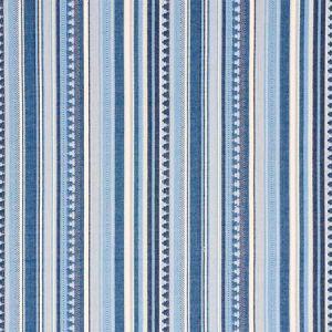 78731 ZUNI STRIPE Blue Schumacher Fabric