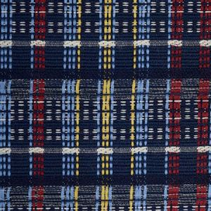 79072 ZEALAND CHECK Navy Multi Schumacher Fabric