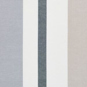 79660 LOLLAND LINEN STRIPE Grey Sand Schumacher Fabric