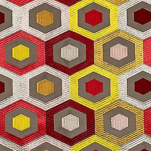 A9 0003 2600 RHAPSODY Hot Cherry Gold Scalamandre Fabric