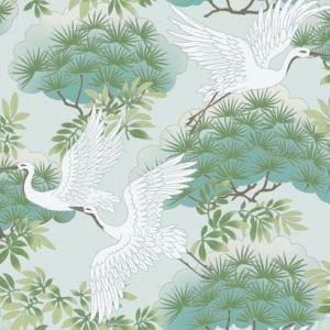 AF6589 Sprig & Heron York Wallpaper