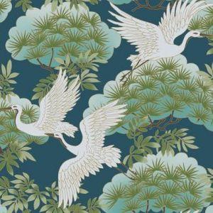 AF6592 Sprig & Heron York Wallpaper
