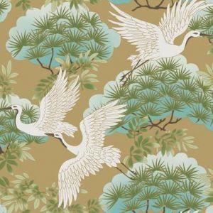 AF6594 Sprig & Heron York Wallpaper