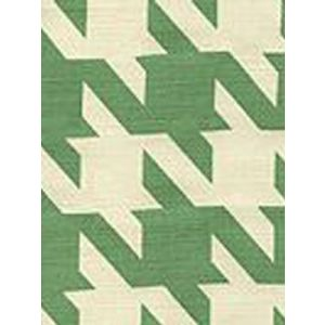 4070-04 AMES HOUNDSTOOTH Leaf on Tint Custom Only Quadrille Fabric