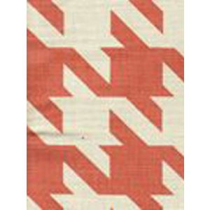 4070-03 AMES HOUNDSTOOTH New Shrimp on Tint Custom Only Quadrille Fabric