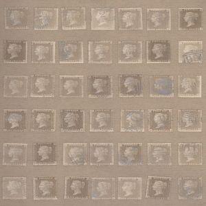 AMW10045-16 PENNY POST Buff Kravet Wallpaper