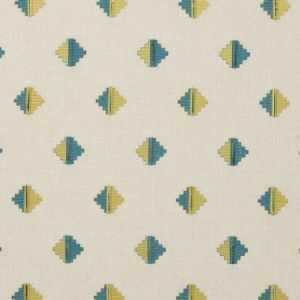 F0722/01 PIZARRO Aqua Clarke & Clarke Fabric