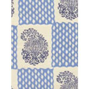 5090-03 BANGALORE Navy French Blue on Tint Quadrille Fabric