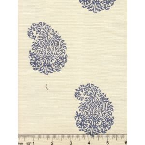 6040-02 BANGALORE PAISLEY Navy on Tint Quadrille Fabric