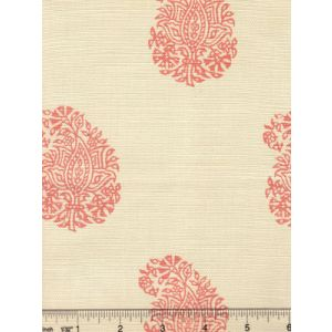 6040-04 BANGALORE PAISLEY New Shrimp on Tint Quadrille Fabric