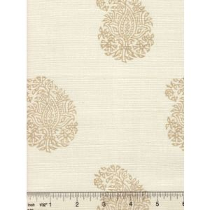 6040-06 BANGALORE PAISLEY Taupe on Tint Quadrille Fabric