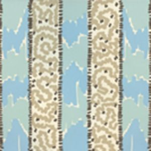 5060-03WP BIJOU STRIPE New Blue Brown Taupe Quadrille Wallpaper