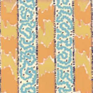 5060-04WP BIJOU STRIPE Yellow Blue Quadrille Wallpaper