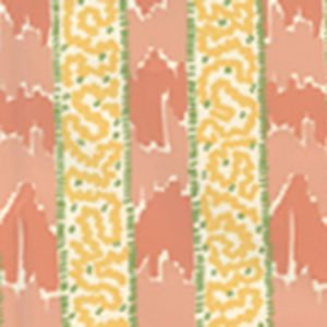 5060-05WP BIJOU STRIPE Melon Yellow Green Quadrille Wallpaper