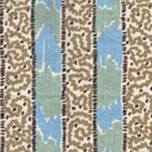 5060-03 BIJOU STRIPE New Blue Brown Taupe Quadrille Fabric