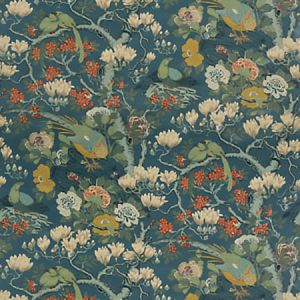 BP10815-2 ROCKBIRD VELVET Teal GP & J Baker Fabric