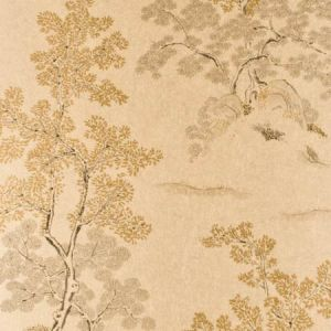 BW45001-4 ORIENTAL TREE Taupe Gold GP & J Baker Wallpaper