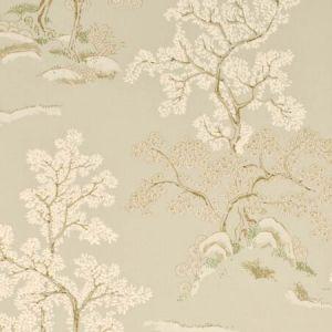 BW45001-6 ORIENTAL TREE Pale Aqua GP & J Baker Wallpaper