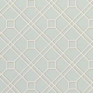 BW45071-11 LANGDALE TRELLIS Soft Aqua GP & J Baker Wallpaper