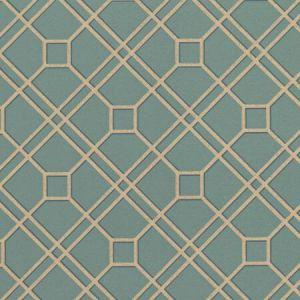 BW45071-12 LANGDALE TRELLIS Teal Bronze GP & J Baker Wallpaper