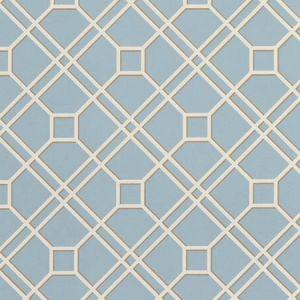 BW45071-9 LANGDALE TRELLIS Soft Blue GP & J Baker Wallpaper