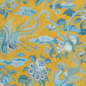 BW45087-4 CHIFU Ochre Blue GP & J Baker Wallpaper