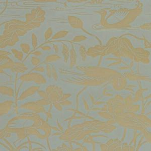 BW45089-5 HERON & LOTUS FLOWER Eucalyptus GP & J Baker Wallpaper