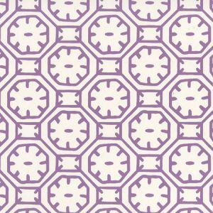8150WP-08 CEYLON BATIK Purple On Almost White Quadrille Wallpaper