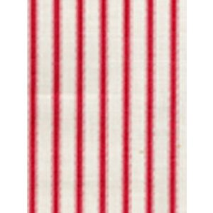 6950-05 CHAPELLE STRIPE Red on Tint Quadrille Fabric