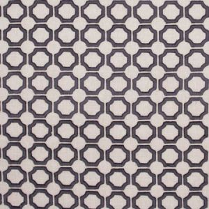 CIRCLE WITHIN Charcoal Carole Fabric