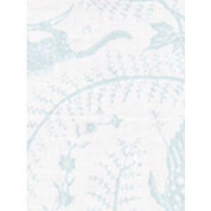 6770-01 CIREBON Pale Aqua on White Quadrille Fabric