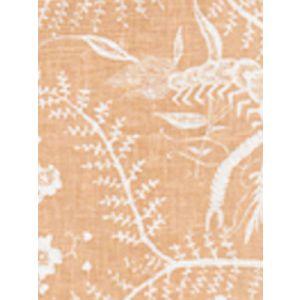 6780-04 CIREBON REVERSE Apricot on White Quadrille Fabric