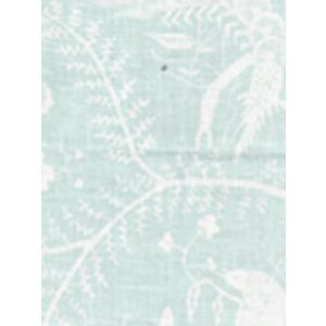 6780-01 CIREBON REVERSE Pale Aqua on White Quadrille Fabric