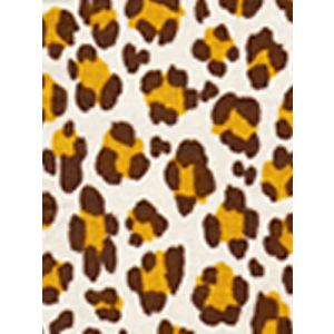 2100-02 CONGA LINE Brown Ochre on Tint Quadrille Fabric