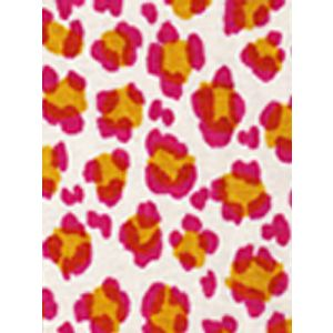 2100-01 CONGA LINE Magenta Ochre on Tint Quadrille Fabric