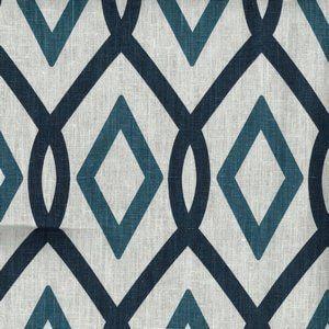 CORFU Indigo Cc4 Norbar Fabric