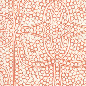 CP1000W-06 PERSIA Orange On Almost White Quadrille Wallpaper