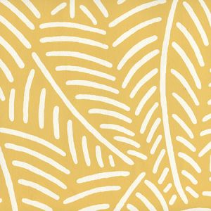 CP1025-02 SAUVAGE REVERSE Butter Yellow On Almost White Quadrille Wallpaper
