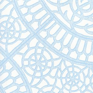 CP1030W-01 CAMELOT Light Blue On White Quadrille Wallpaper