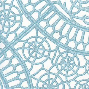 CP1030W-04 CAMELOT Turquoise On White Quadrille Wallpaper
