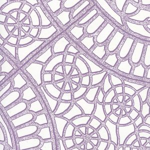 CP1030W-06 CAMELOT Purple On White Quadrille Wallpaper