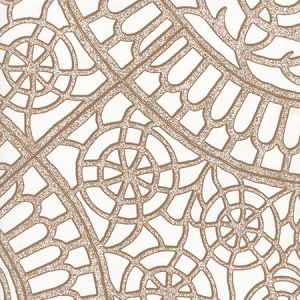 CP1030W-07 CAMELOT Cognac On White Quadrille Wallpaper